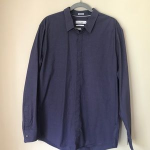 Calvin Klein Button Down Long Sleeve Shirt-XL